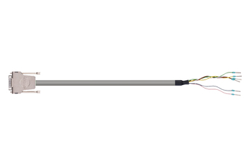 readycable® encoder cable acc. to Festo standard NEBM-S1G15-E-xxx-LE6, base cable PUR 7.5 x d