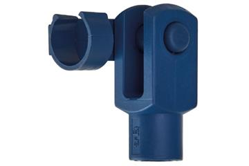Clevis joint with spring-loaded fixing clip, detectable, GELMF-DT, igubal®